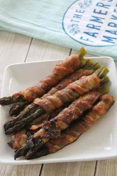 Keto Friendly Bacon Wrapped Asparagus