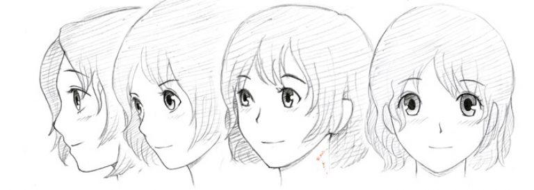 تعلم كيفية رسم أنيمي رسم خطوة بخطوة شخصية أنيمي مع قلم رصاص للمبتدئين