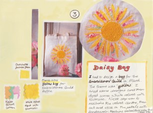 Daisy Bag sketchbook page