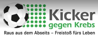 Logo Kicker gegen Krebs