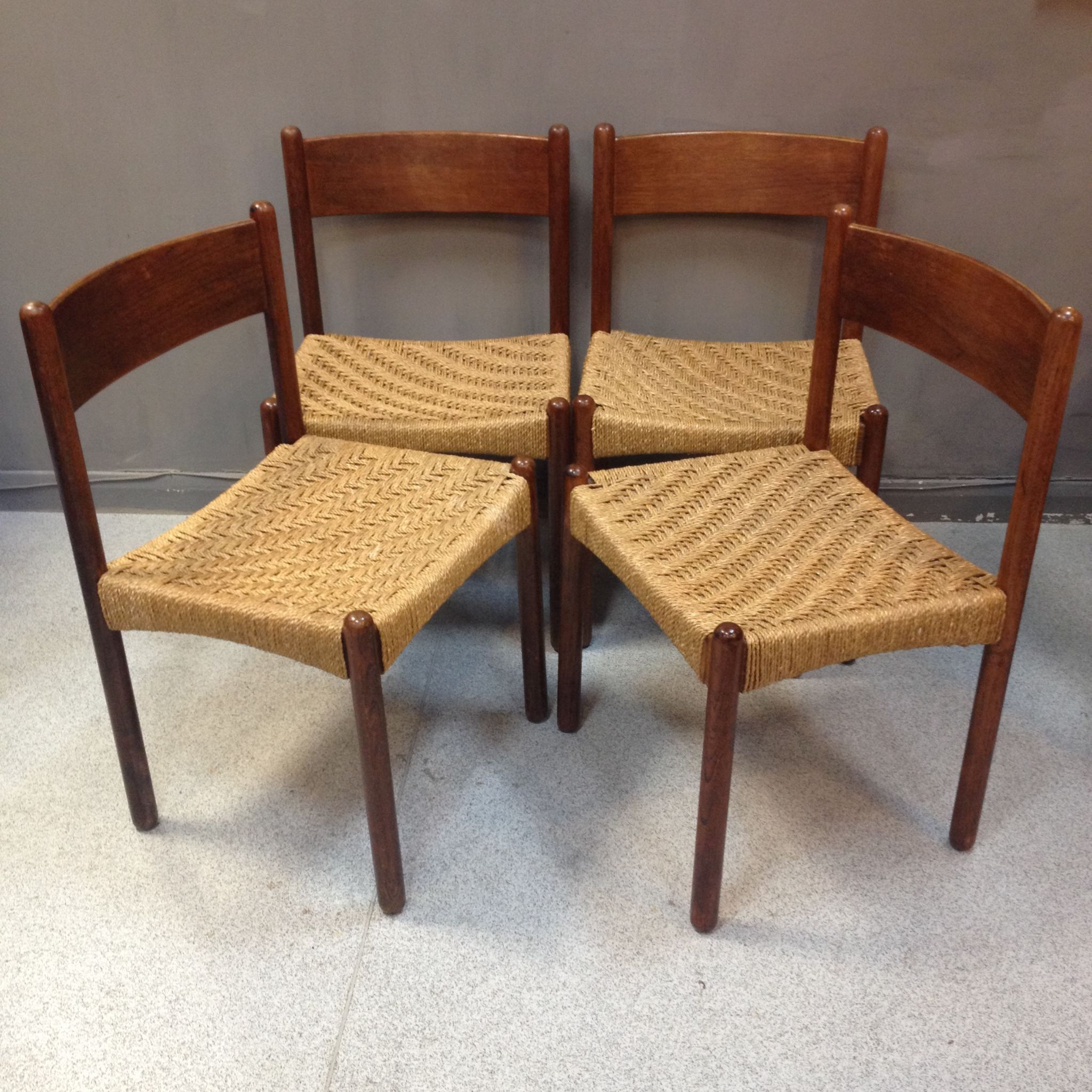 Seagrass Dining Chairs Mid Century Danish Dining Chairs With Seagrass Seats