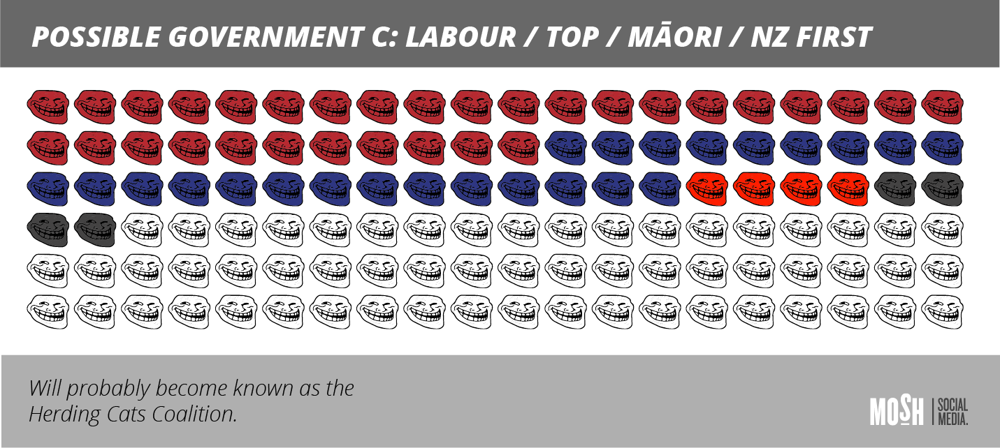 Coalition Government Labour/TOP/Māori/NZ First