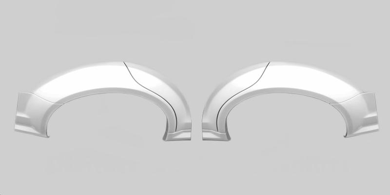 Moshammer breite Bögen für Radlaufverbreiterung C63AMG - W204