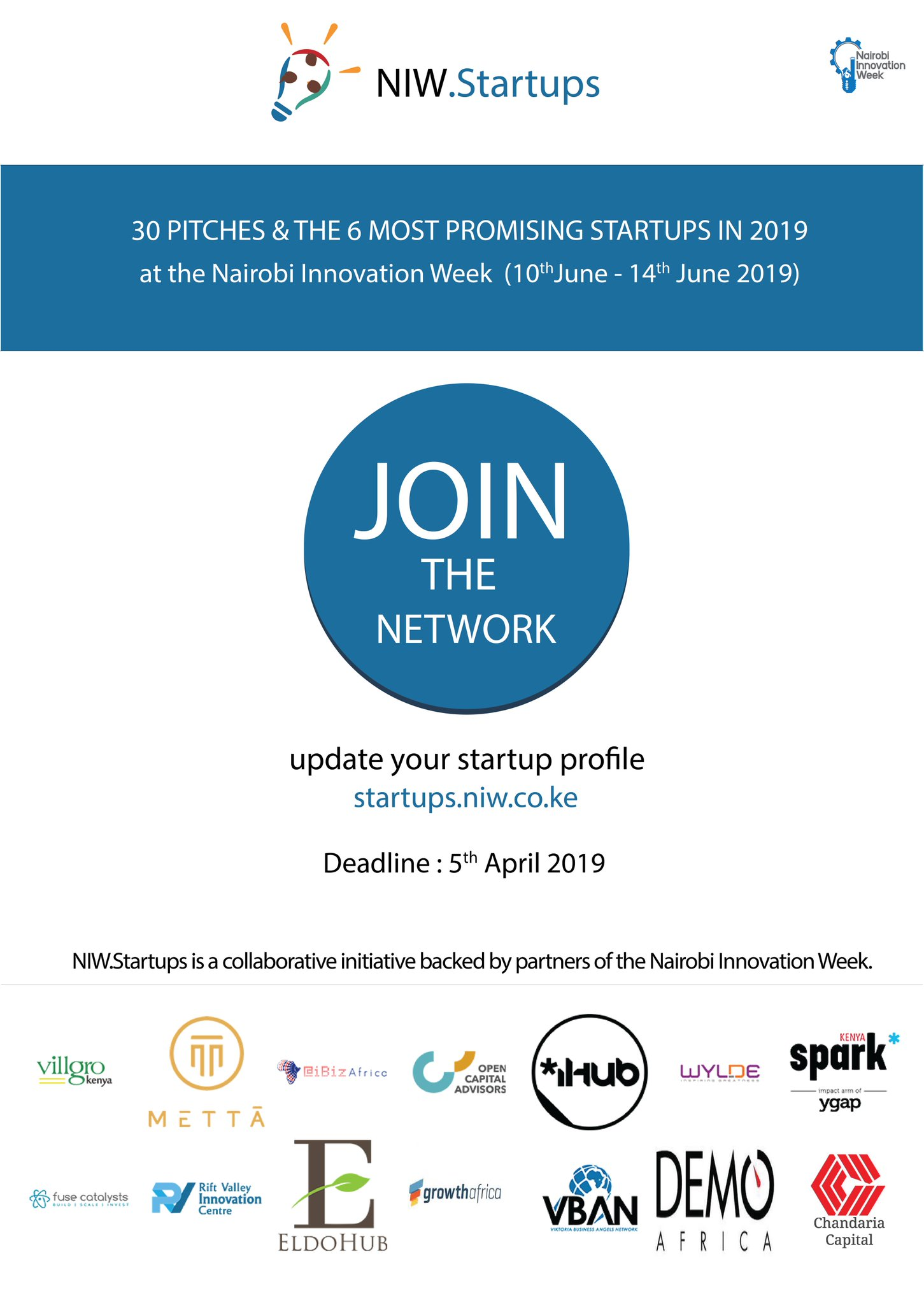 Nairobi Innovation Week Opens Submissions for Start Ups 2019