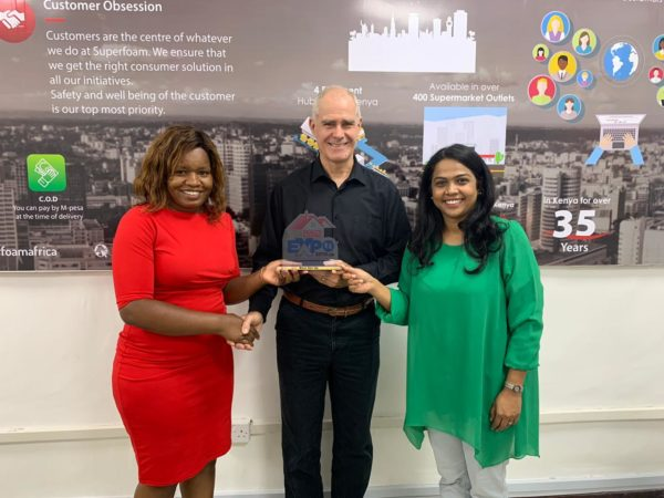 Superfoam Ltd wins best brand award at 254 Realty Expo