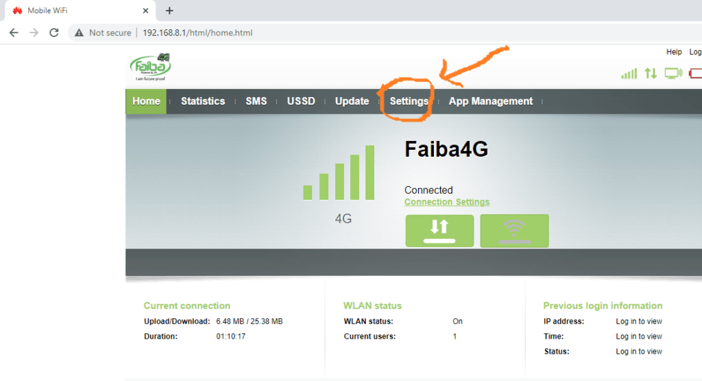 Faiba MiFi connections block