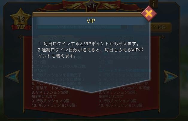 VIPポイントのデイリーリセット
