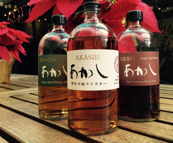 Akashi White Oak Single Malt, Akashi Blended Malt, Akashi 5yr Sherry Cask