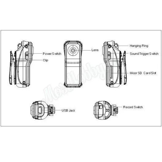 Камера AEE mini DV MD80S (металл) Купить по цене 500 руб
