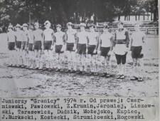 1974. Juniorzy Granicy przed meczem.