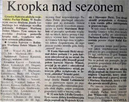 1999. Kropka nad sezonem.