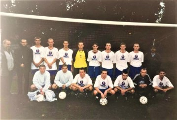 002.Drużyna z trenerem Michalewskim - sezon 2002-2003