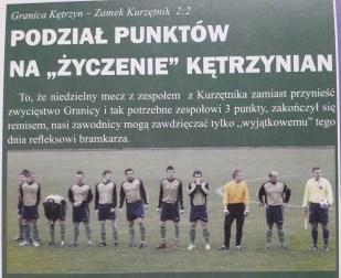 2009. Przed jesiennym meczem z Zamkiem Kurzętnik.