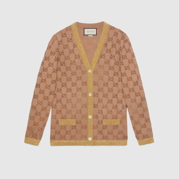 Gucci Cardigan with crystal GG motif MC Mosnar Communications