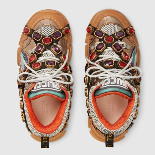 Gucci Flashtrek sneaker with removable crystals MC Mosnar Communications