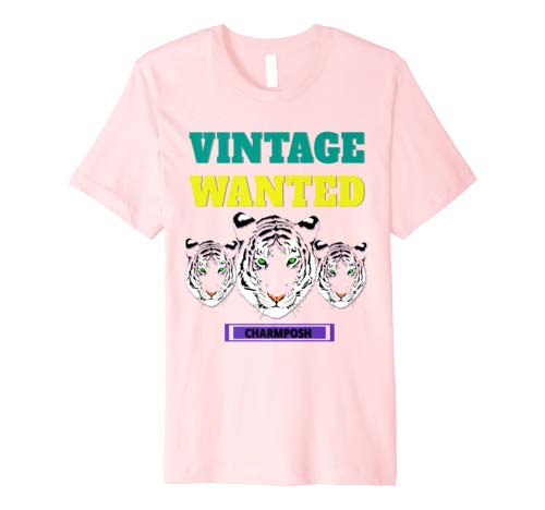 Vintage Wanted Designer T-Shirt Brand Logo 5 CharmPosh Mosnar Communications