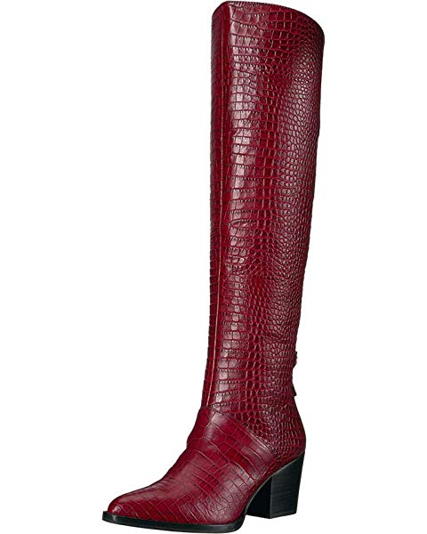 CAYLEN-by-SARTO-Wine-Croco-Boots-Mosnar-Communications-2
