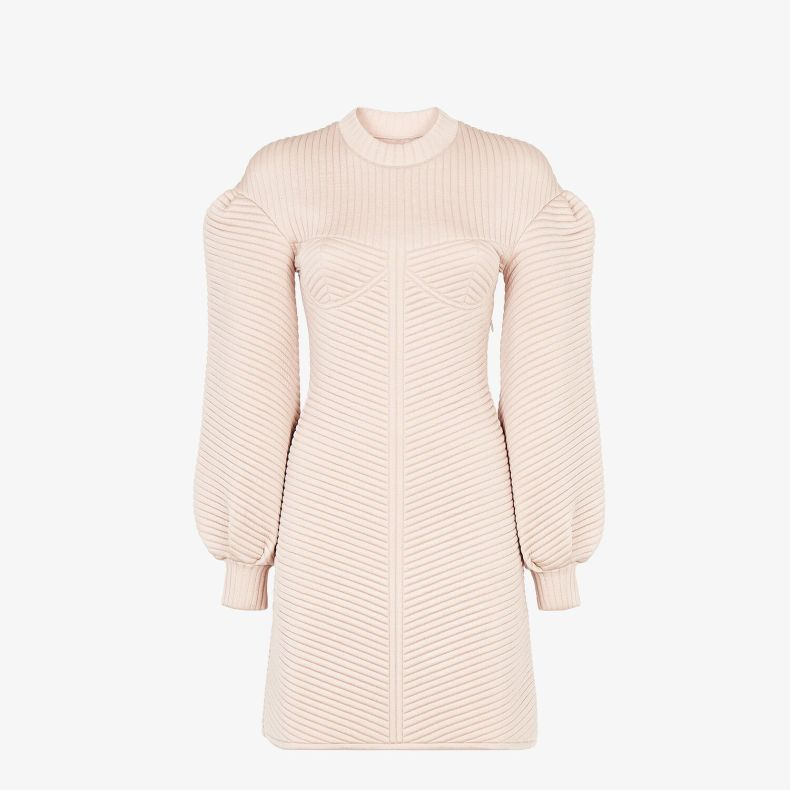 FENDI-Pink-Quilted-Fabric-Dress-1-Mosnar-Communications