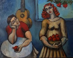 the proposal original oil on canvas by yuroz