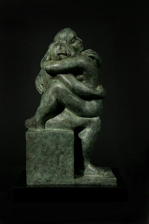 tranquility cast bronze sculpture by yuroz
