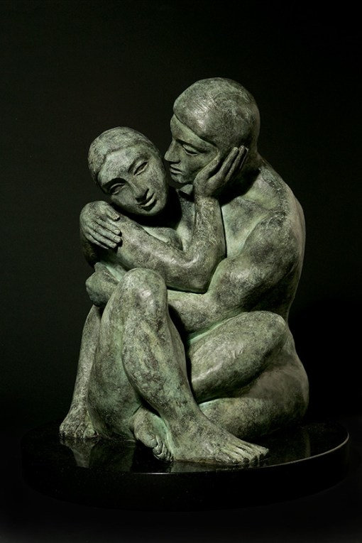 the whisper cast bronze sculpture by yuroz