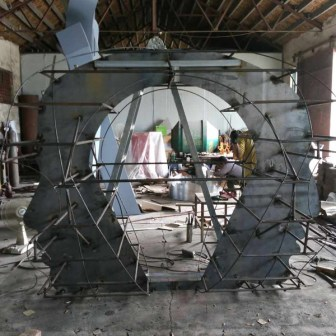 "Fabrication of ""Eternity"" large scale installation in China"