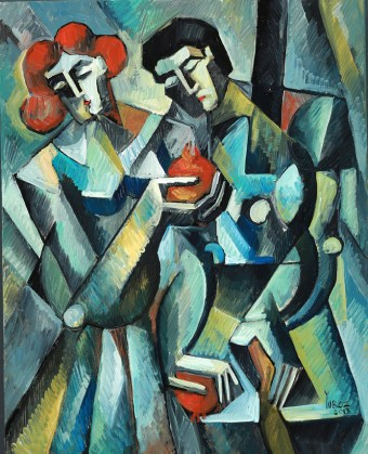 The Waltz of Devotion (study) Oil on Canvas by Yuroz