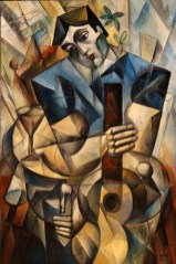 """6473 – """"Serenade with Guitar"""", Oil on Canvas, 48″ x 32″(122 cm x 81 cm)"""