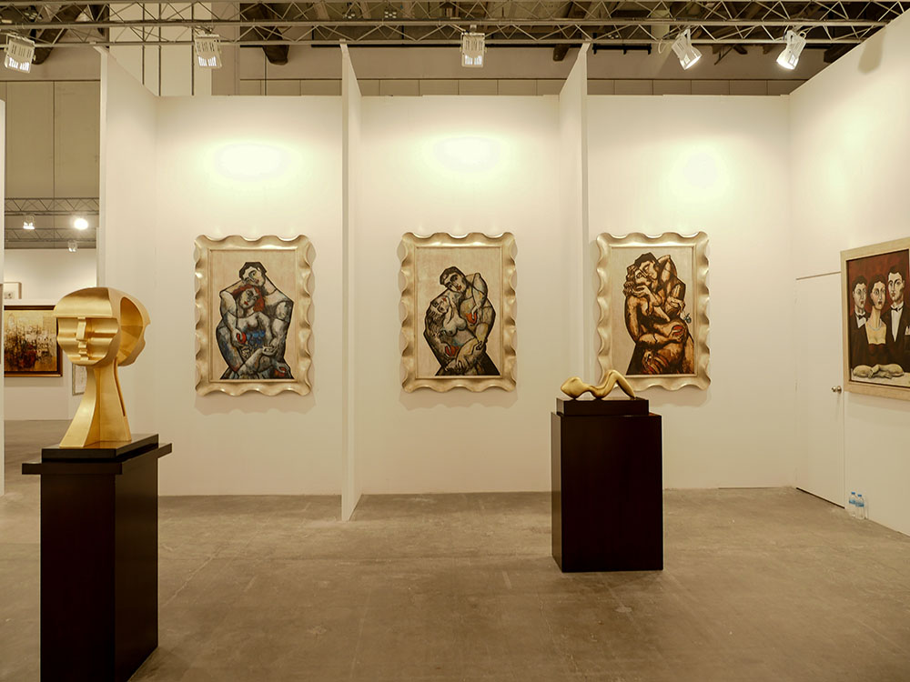 Yuroz and Moso Art Gallery booth at Art Stage Singapore 2017 - Silver Iconography Collection by Yuroz