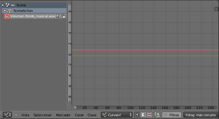 Editor curvas con el volumen