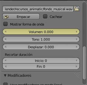 Volumen en 0