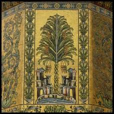 Image n°2: Mosaïque représentant l'Oasis de Damas, Grande mosquée de Damas (Auteur: Charles Roffey - Certains droits reservés: https://creativecommons.org/licenses/by-nc-sa/2.0/)