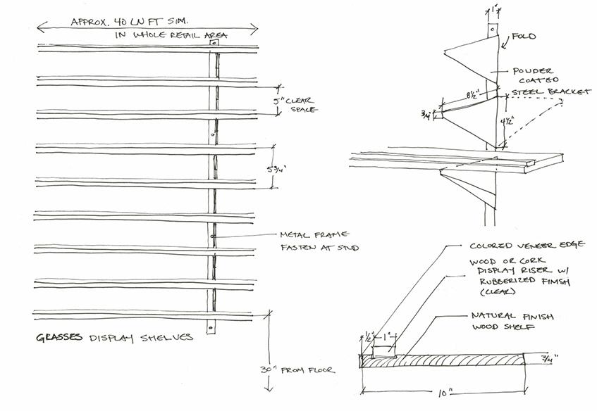 shelving sketch