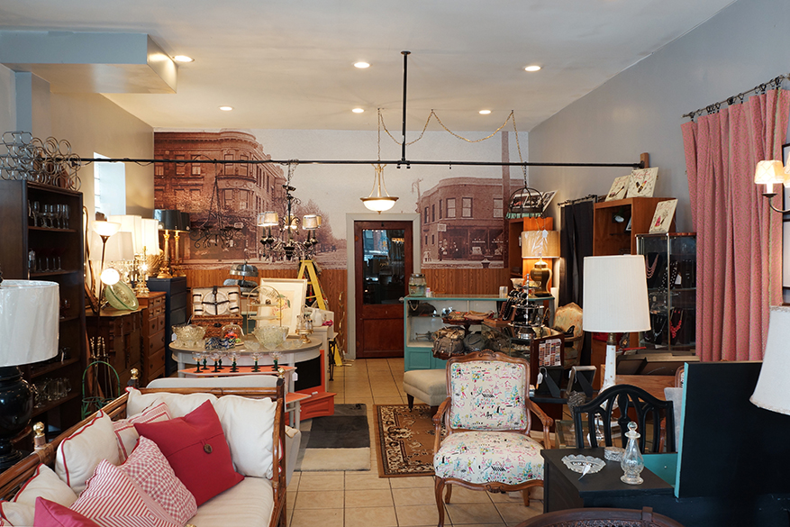 A vintage furniture store that sells upcycled and restored furniture