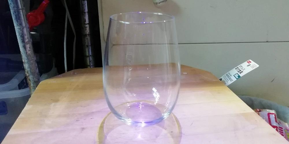 100均ガラスのグラス