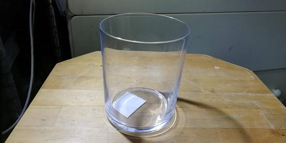 ちょっと大きめ広口のガラスコップ