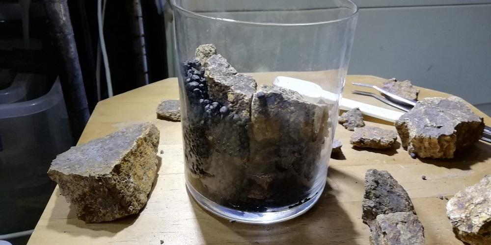 コップと石の石の隙間にはソイルを詰めていくようにした