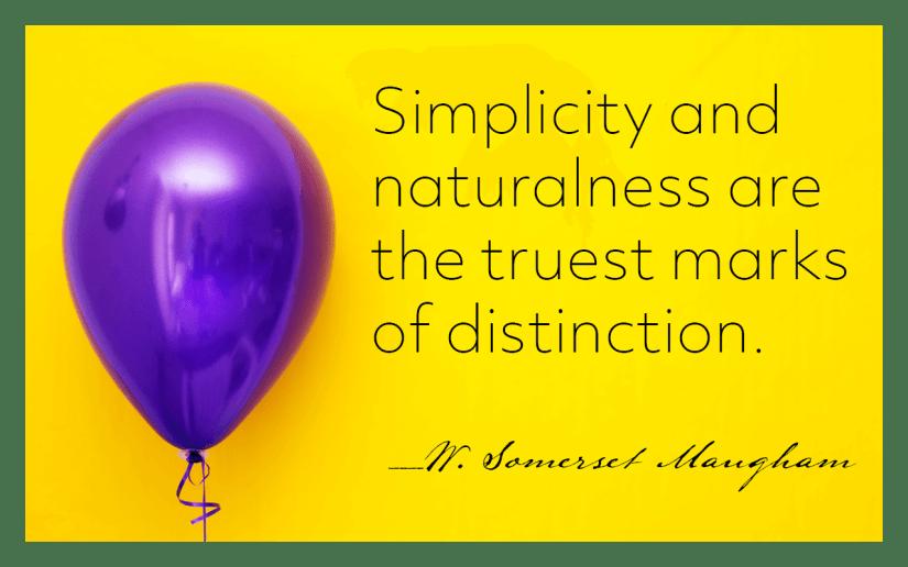 graphic praising simplicity