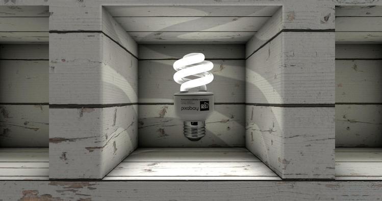 bright lamp