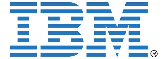 IBM logo in closure principle in Gestalt Theory