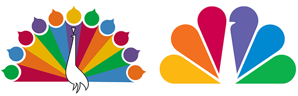 NBC logos example of closure in Gestalt Theory