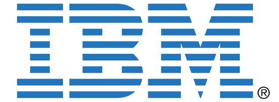 IBM logo example of closure in Gesttal theory