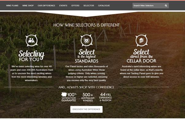 wine advert of Orange NSW