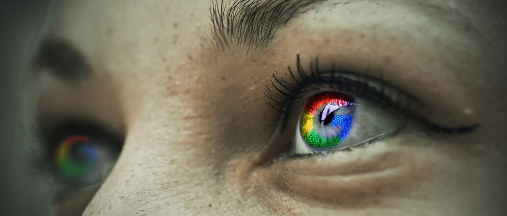 Google colors on eyes brand to the audience