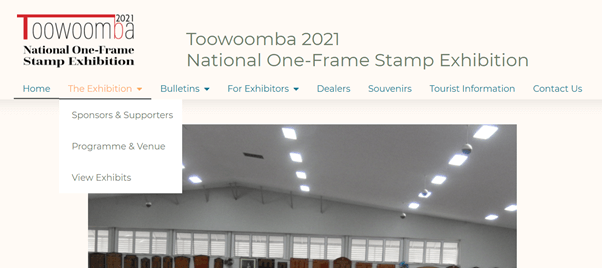 Toowoomba 2021 website menu