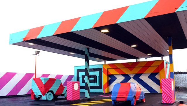 """No.27 - A nod to Ed Ruscha"" New Street Installation By Irish Artist Maser in Limerick City. 1"