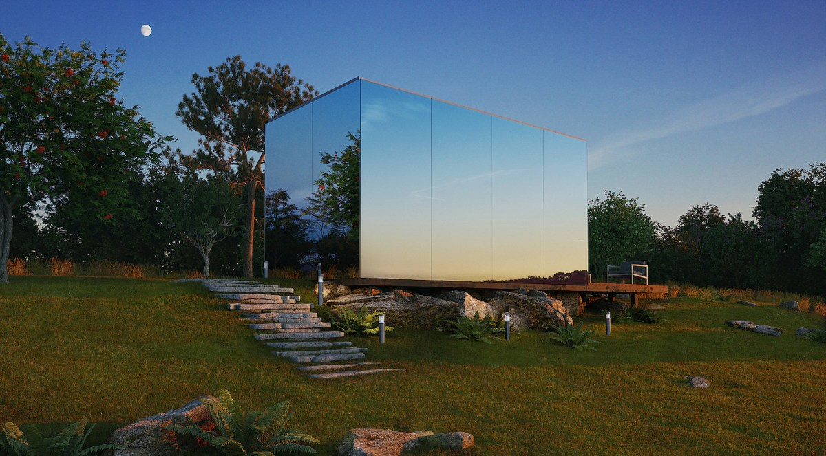 Double the Umlauts, Double the Fun in this Mirrored Pop-Up Home
