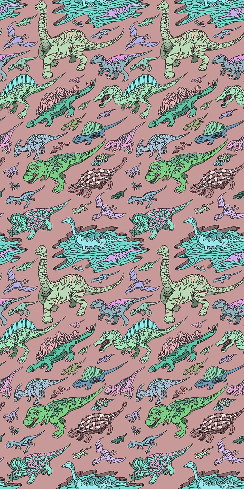 dinosaur coloring wallpaper