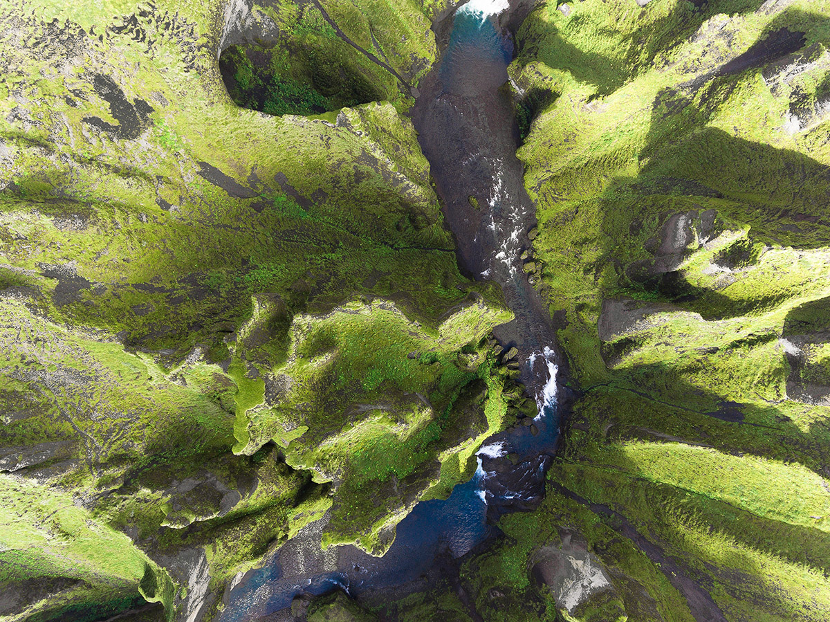 iceland from above moss and fog 6