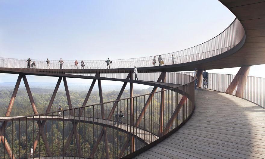 spiraling-treetop-walkway-effekt-denmark-moss and fog 6